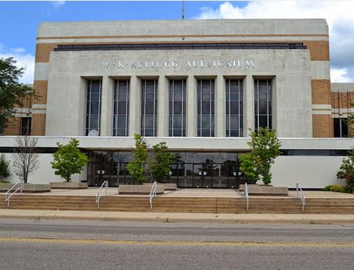 Brass Band of Battle Creek plays at the W.K. Kellogg Auditorium