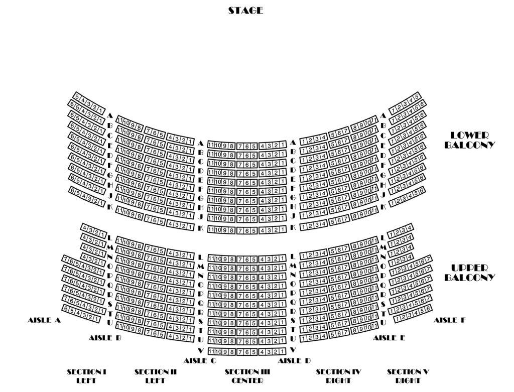WK Kellogg Auditorium Balcony Seating