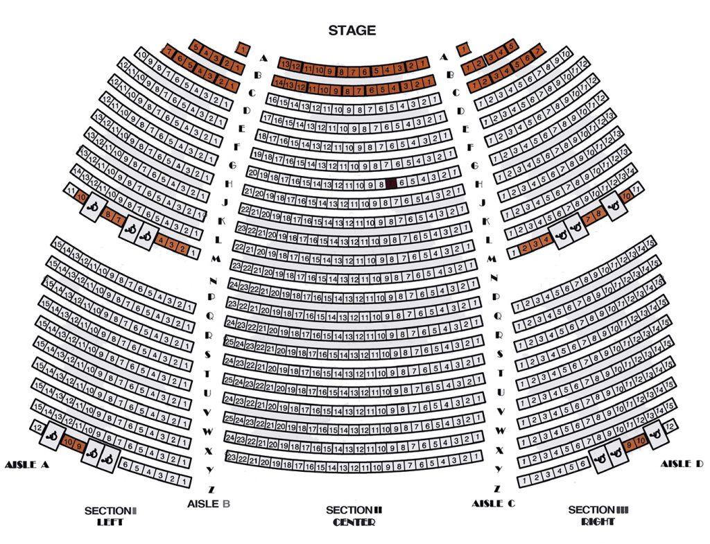 WK Kellogg Auditorium Main Floor Seating